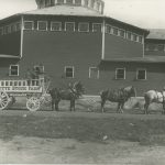 Photograph of the Lafayette Stock Farm, ca. 1915. This business was once the country's largest importer of Percheron, Belgian, Shire, German Coach and Hackney horses. (77.010.153)