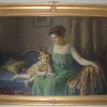 Oil painting of Louise Campbell Fowler and her son, Joseph C. Fowler, 1920. Painted by Robert Grafton. (91.181.07)