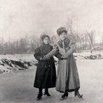 Skaters on Lauramie Creek, ca. 1900 (6599)