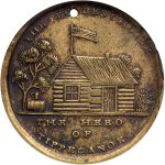 Major General William Henry Harrison commemorative medal, ca. 1840. (2012.012.01)