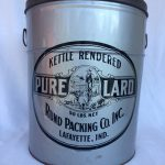 Rund Packing Co. Inc. Kettle Rendered Pure Lard container. (95.036)