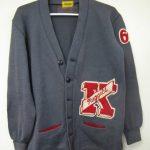Klondike High School letterman's sweater of Mike Canine, 1962. (2015.049.01)