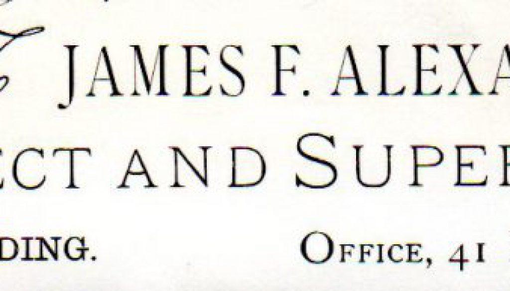 James F. Alexander Letterhead